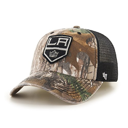 NHL Los Angeles Kings Huntsman Closer Stretch Fit Hat, One Size Stretch, Camouflage