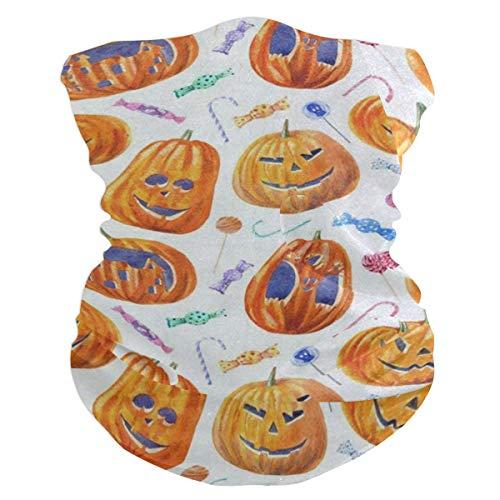 Halloween Pumpkin Lollipop Candy Headband Womens Bandana Mens Balaclava,Neck Warmer,Face Mask,Headwear Facemask