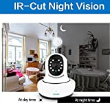 Loosafe Wi-fi IP Camera Best Baby Monitor Best Nanny Cam 1080p Quality Wireless Surveillance and Security Camera House and Baby Surveillance Two-Way Voice Intercom Mobile Phone Monitor Night Vision