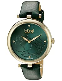 Burgi Women's BUR151GN Analog Display Quartz Green Watch