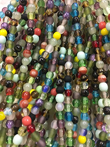 Czech Glass 4mm Round Druk Beads ASSORTED MIX of FINISHES and COLORS 500 beads per pack