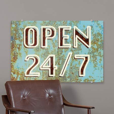 Ghost Aged Blue Premium Acrylic Sign CGSignLab 36x24 Open 24//7