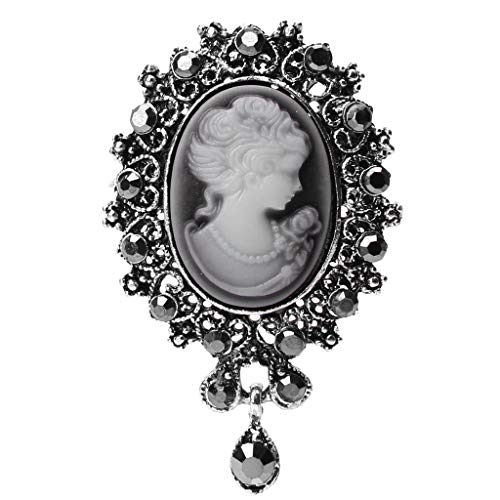 (SimpleLif Lady Pendant Brooch Pin Vintage Cameo Victorian Style Wedding Party for Women Girls Accessories)