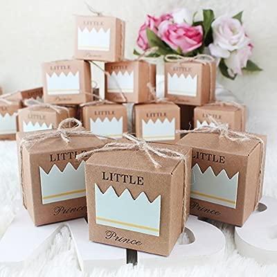 aytai Pack de 100 cajas de caramelos regalo para el bebé ducha, princesa de el principito Color Marrón Kraft Papel para fiesta boda Favor niños de la ...