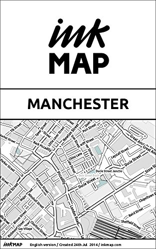 Manchester Inkmap - maps for eReaders, sightseeing, museums, going out, hotels (English)