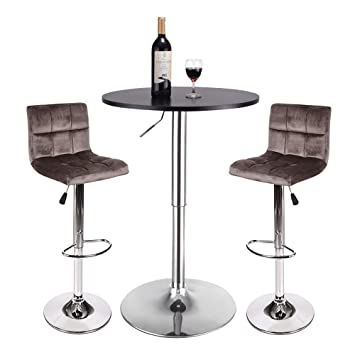 Amazoncom Bar Table And Stools Set Pub Table And Chairs Set 3