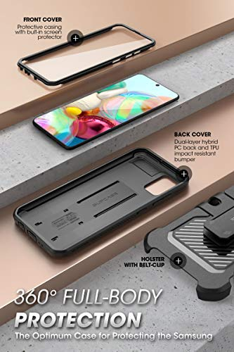 SupCase Unicorn Beetle Pro Series Designed for Samsung Galaxy A71 Case, Full-Body Rugged Holster & Kickstand Case with Built-in Screen...