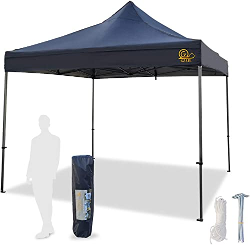 EliteShade 10 x10 Commercial Ez Pop Up Canopy Tent Instant Canopy Party Tent Sun Shelter with Heavy Duty Roller Bag,Bonus 4 Weight Bags,White