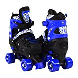Search : Scale Sports Adjustable Quad Roller Skates for Kids Size 13.5 Junior to 9 Adult