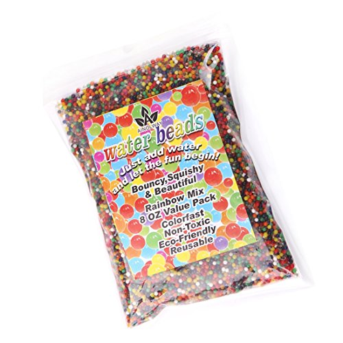 Top AINOLWAY 8oz Water Gel Beads Rainbow Mix Jelly Crystal Balls for Kids Tactile Toy and Planting Flowers DÃcor