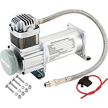 Image of Accessories & Compressors Vixen Horns Heavy Duty Onboard Air Compressor 150 PSI. Universal Replacement for Truck/Car Train Horn/Suspension/Ride/Bag kit/System. Fits All 12v Vehicles Like Semi/Pickup Trucks/Jeep VXC8101