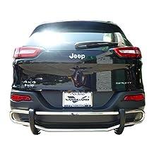 VANGUARD 2005-2010 Jeep Grand Cherokee Rear Bumper Guard Double Tube S/S