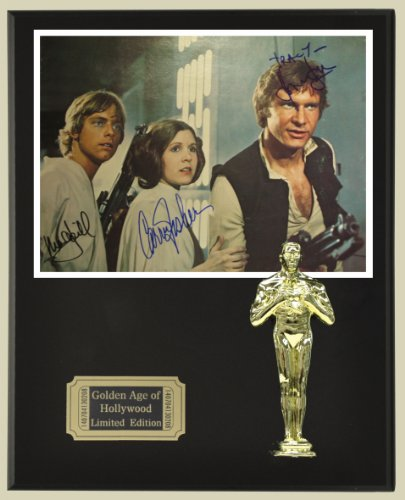 Star Wars Cast Reproduction Autographed 8 x 10 Photo LTD Edition Oscar Movie Display