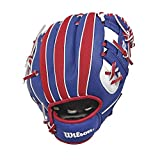Wilson A200 MLB Logo T-Ball Baseball Glove, Right Hand, 10'