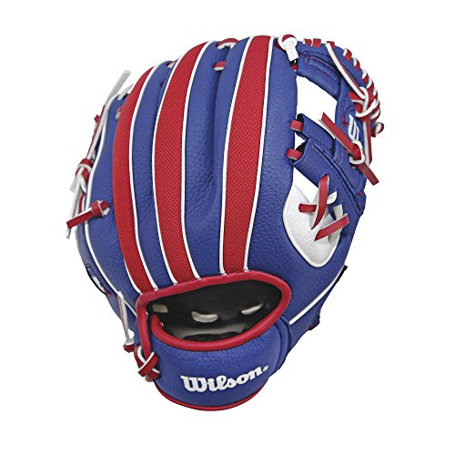 Wilson A200 MLB Logo T-Ball Baseball Glove, Right Hand, 10""