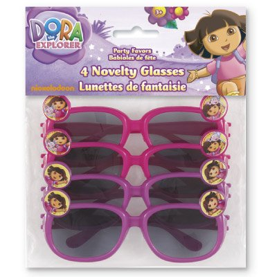 Dora the explorer necklaces, sunglases,hair poines, stickerland, hair accesory,blowouts,napkins, cups. Sold Individual - Super Sunglases