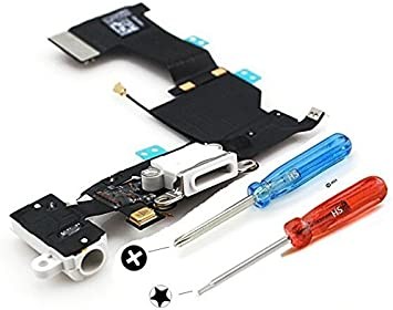 Conector Dock de repuesto para iPhone 5s Blanco MMOBIEL ...