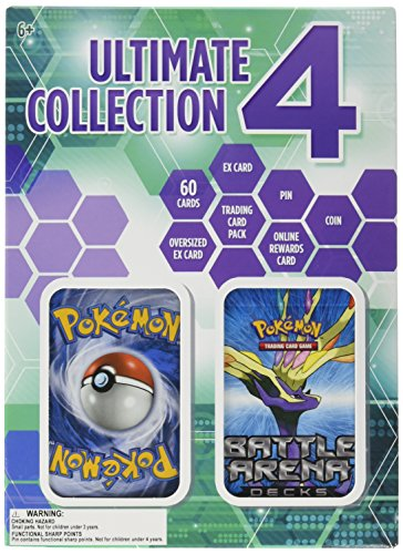 Pokemon TCG Ultimate Collection 4 - Exclusive Premium Pokemon Bundle Packed With 60 Cards, A Powerful EX Card, An Oversized EX Card, Booster Pack, Limited Edition Collector's Coin, and Collector's Pin