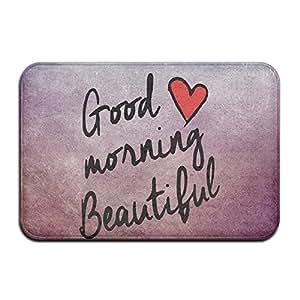 Good Morining Beautiful Love Doormat Rug Door Mat
