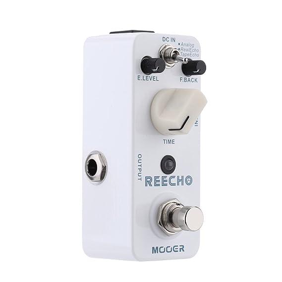 Muslady Mooer Reecho Micro Mini Digital Delay Pedal de Efecto para Guitarra Eléctrica True Bypass: Amazon.es: Instrumentos musicales