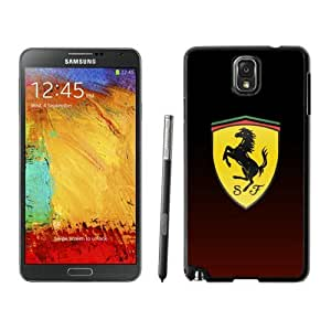Durable Case Ferrari logo 4 Samsung Galaxy Note 3 Case in Black