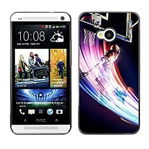 Baloncesto Remolino colorido - Metal de aluminio y de plástico duro Caja del teléfono - Negro - HTC One M7