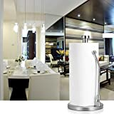 #9: Paper Towel Holder Stand, Adoric Stainless Steel Paper Towel Holder Rack, Tissue Holder Stand for Kitchen, Bedroom, Bathroom Countertop, Easy to Tear
