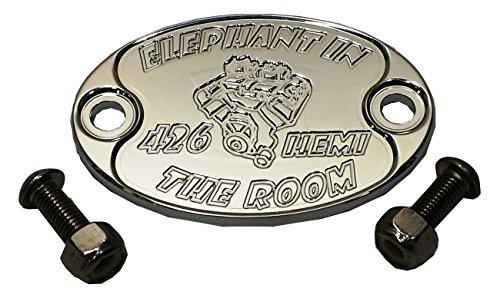 426 Hemi Valve Cover (JACER Enterprises E6006-MS25N 426 HEMI Chrysler Engine Aluminum Auto Emblem Badge Nameplate)