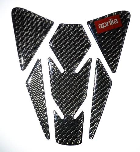 (RZ Motodesign Carbon Fiber Motorcycle Tank Protector Pad for Aprilia RSV4)
