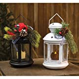 Heart of America Assorted Metal Christmas Lanterns with Pine - Set of 2