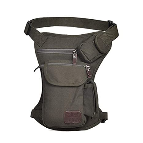 Zxcvlina Simple Retro Zipper Waterproof Canvas Chest Bag Shoulder Bag Messenger Bag Color ArmyGreen