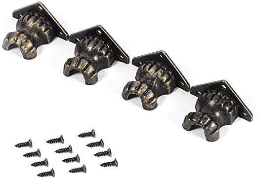 Jewelry Box Corner Wood Case Chest Feet Leg Corner Protectors Guard Hardware