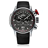 Edox Men's 38001 TIN NIN Chronorally Analog Display Swiss Quartz Black Watch