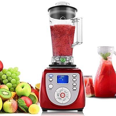 8 Cup 2000W Smoothie Blender Professional Food Processor, Fruit Juice Milkshake Vegetable Smoothie Maker with 304 Stainless Steel Blade & Digital Screen & Smart Timer Settings
