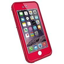 "LifeProof FRE iPhone 6 ONLY Waterproof Case (4.7"" Version) - Retail Packaging -  REDLINE RED (LIGHT CHERRY/DARK CHERRY)"