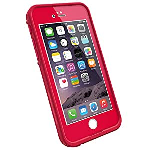 "LifeProof FRE iPhone 6 ONLY Waterproof Case (4.7"" Version) - Retail Packaging -  REDLINE RED (LIGHT CHERRY/DARK CHERRY)"