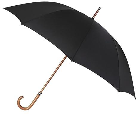 Elegante y Atemporal Paraguas de Hombre de la Marca VOGUE. Color Negro, Largo y