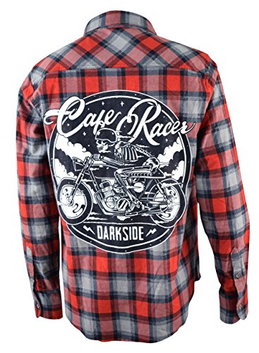 CAFE-RACER-Mens-Checked-Flannel-Shirt