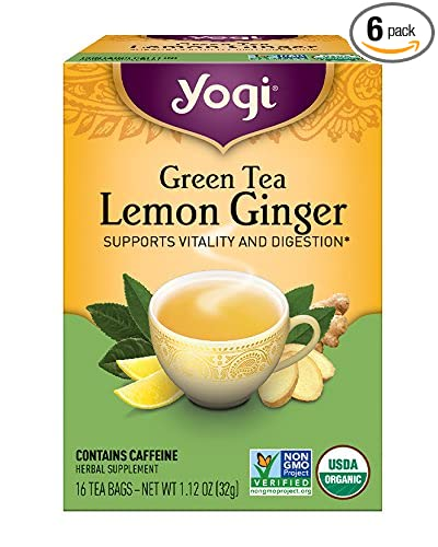 Product thumbnail for Yogi Tea-Green Tea Lemon Ginger