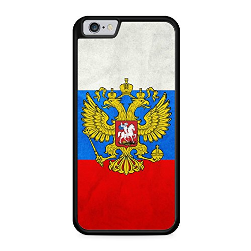 Russland Russia Flagge Flag iPhone 6 + PLUS SILIKON SCHWARZ Hülle Cover Case Schale