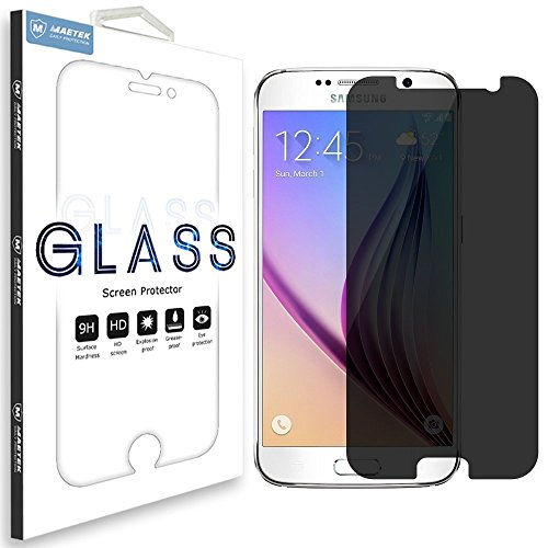 Soundmae Samsung Galaxy S6 Privacy Anti-Spy Tempered Glass Screen Protector Shield with 0.3mm 2.5d Round Edge,Retail Packing