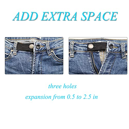 Harsgs 6 Pieces Elastic Waist Extenders, Adjustable Wasitband Button Extender for Pants Jeans Trousers , 3 Colors