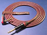 Geistnote's Evidence Audio Forte Instrument Cable with Neutrik Silent Plug and Gold Connectors 17 Ft (5 M) ~ Right Angle to Straight