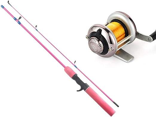 LMEIQUN, Juego de cañas de Pescar de 4 Colores 1.2 m Spinning ...