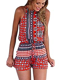 Women's Sexy Cut out back Bohemian Casual Loose Romper...