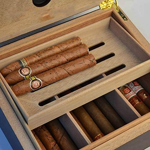 Rosewood Veneer Cigar humidor Display Glass humidor Large-Capacity Stylish Handmade humidor