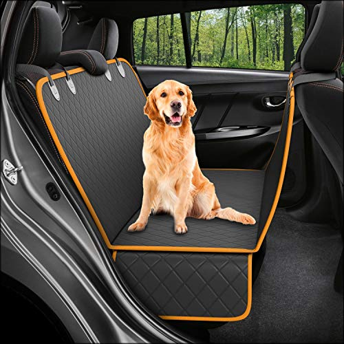 Dog Back Seat Cover Protector Waterproof Scratchproof Nonslip Hammock for Dogs Backseat Protection Against Dirt and Pet Fur Durable Pets Seat Covers for Cars Trucks SUVs ()