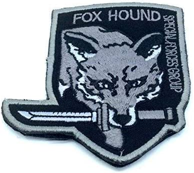 "Parche de Airsoft o Paintball bordado Fox Hound con texto en inglés ""Special Force Group"", color negro: Amazon.es: Deportes y aire libre"