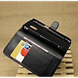 YHC Wallet Holder Leather Pouch Case Cover For Samsung Galaxy S5 Active G870 Colour Black