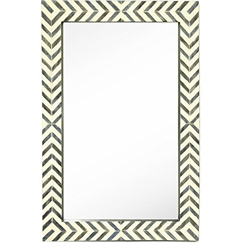 Hamilton Hills New Contemporary Herringbone Pattern Modern Wall Mirror | Vanity Bedroom -